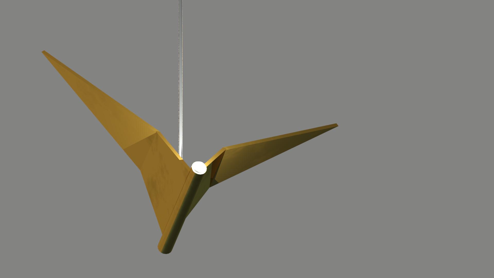 дизайнерский подвесной светильник птица из латуни
