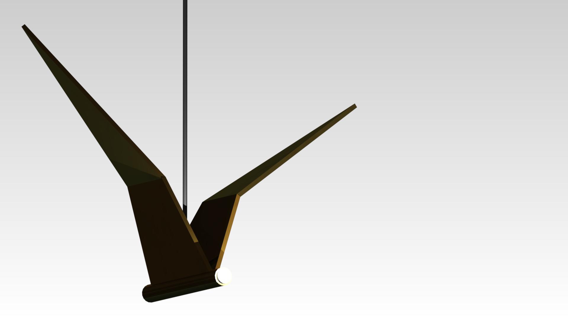 дизайнерский светильник черная латунь