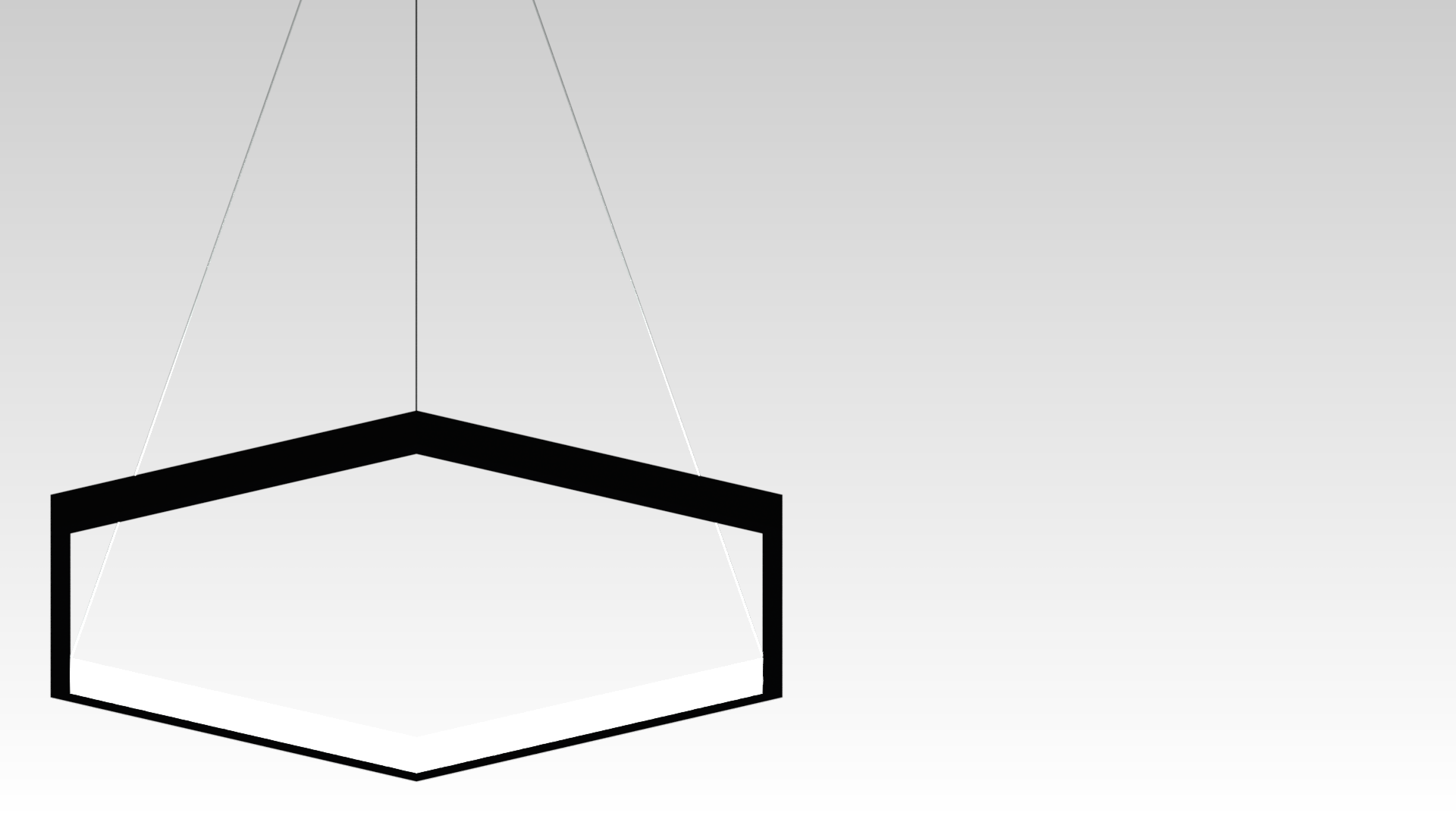черная шестиугольная люстра
