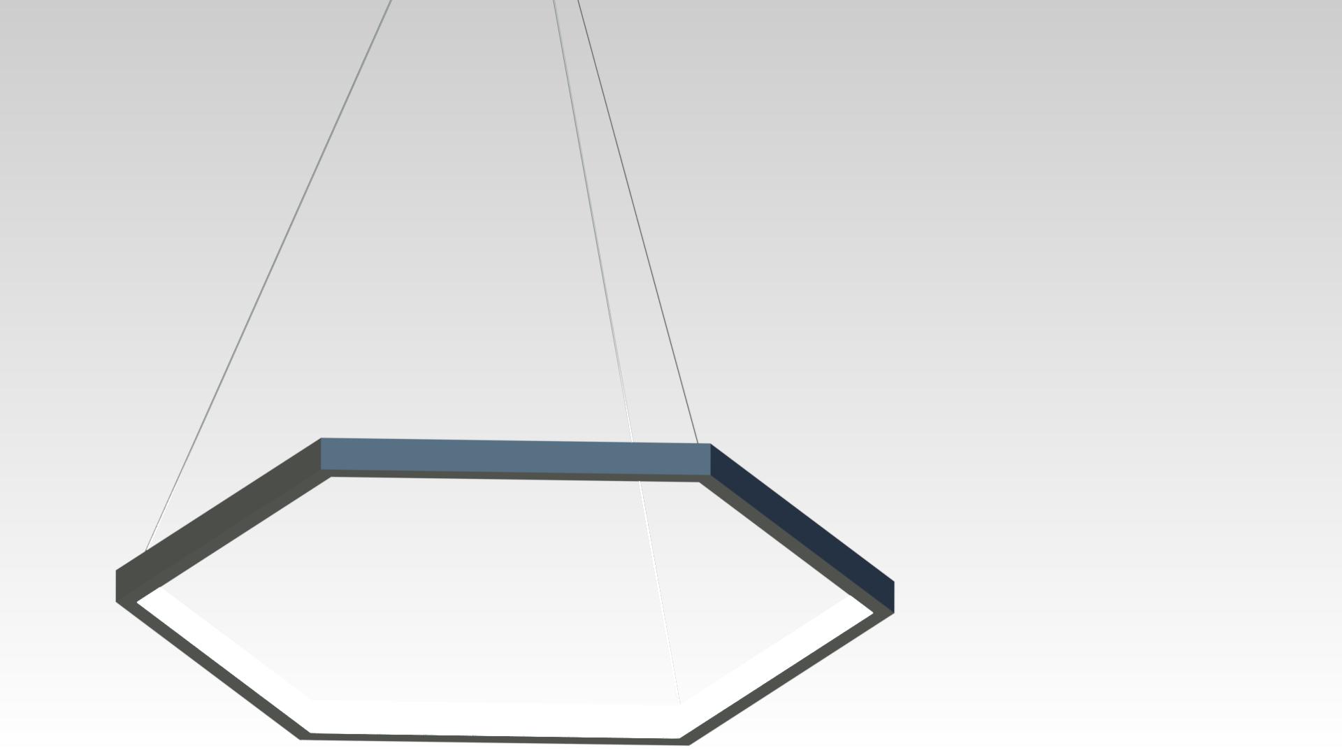 люстра хромированная светодиодная шестиугольная