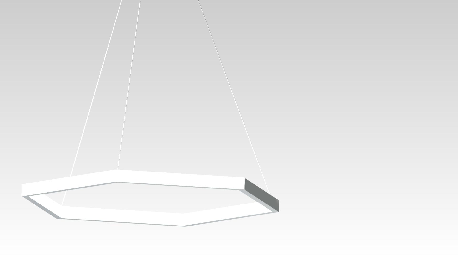 люстра шестиугольник светодиодная на подвесах белая