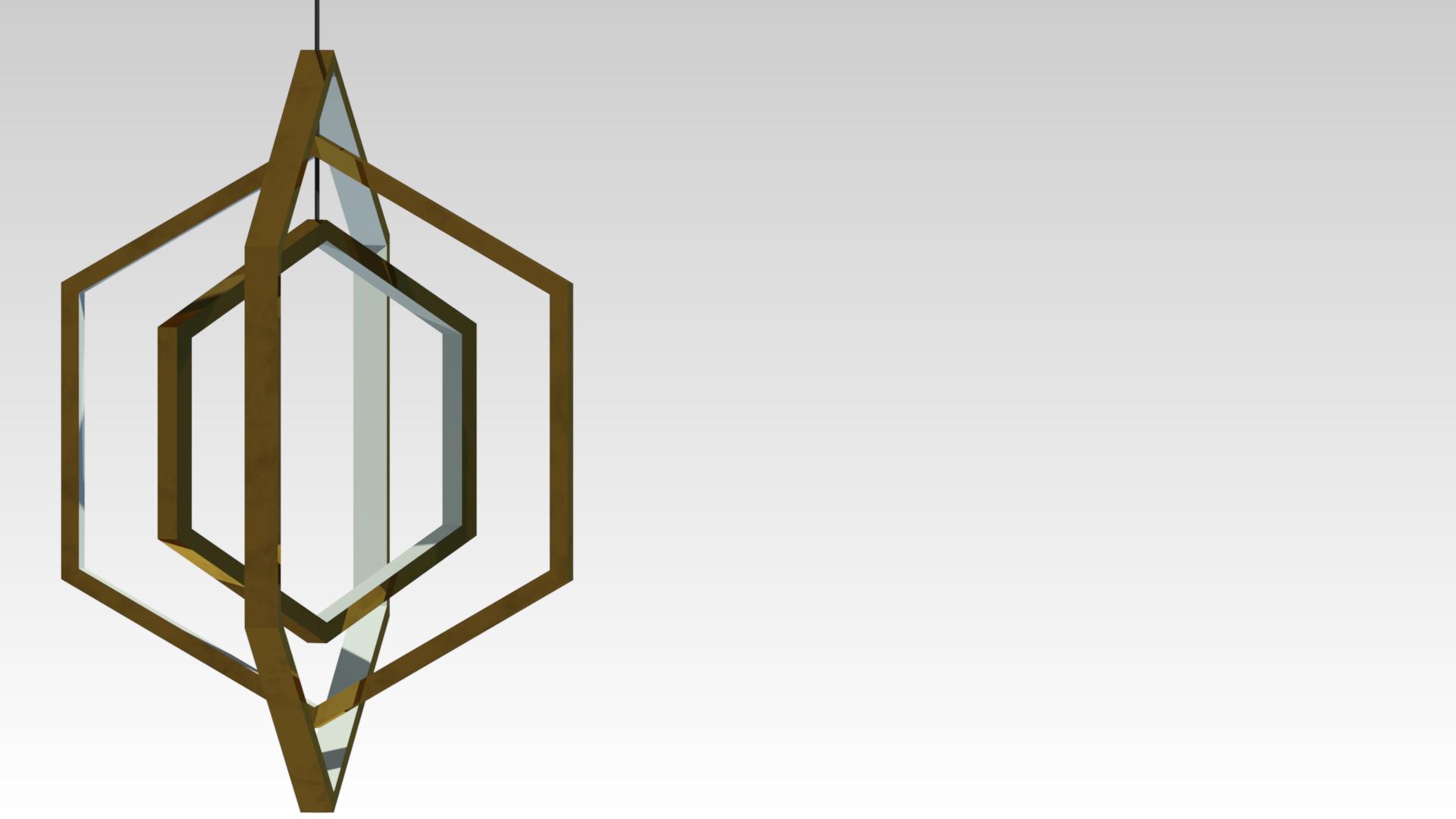 подвесная люстра светодиодная латунь