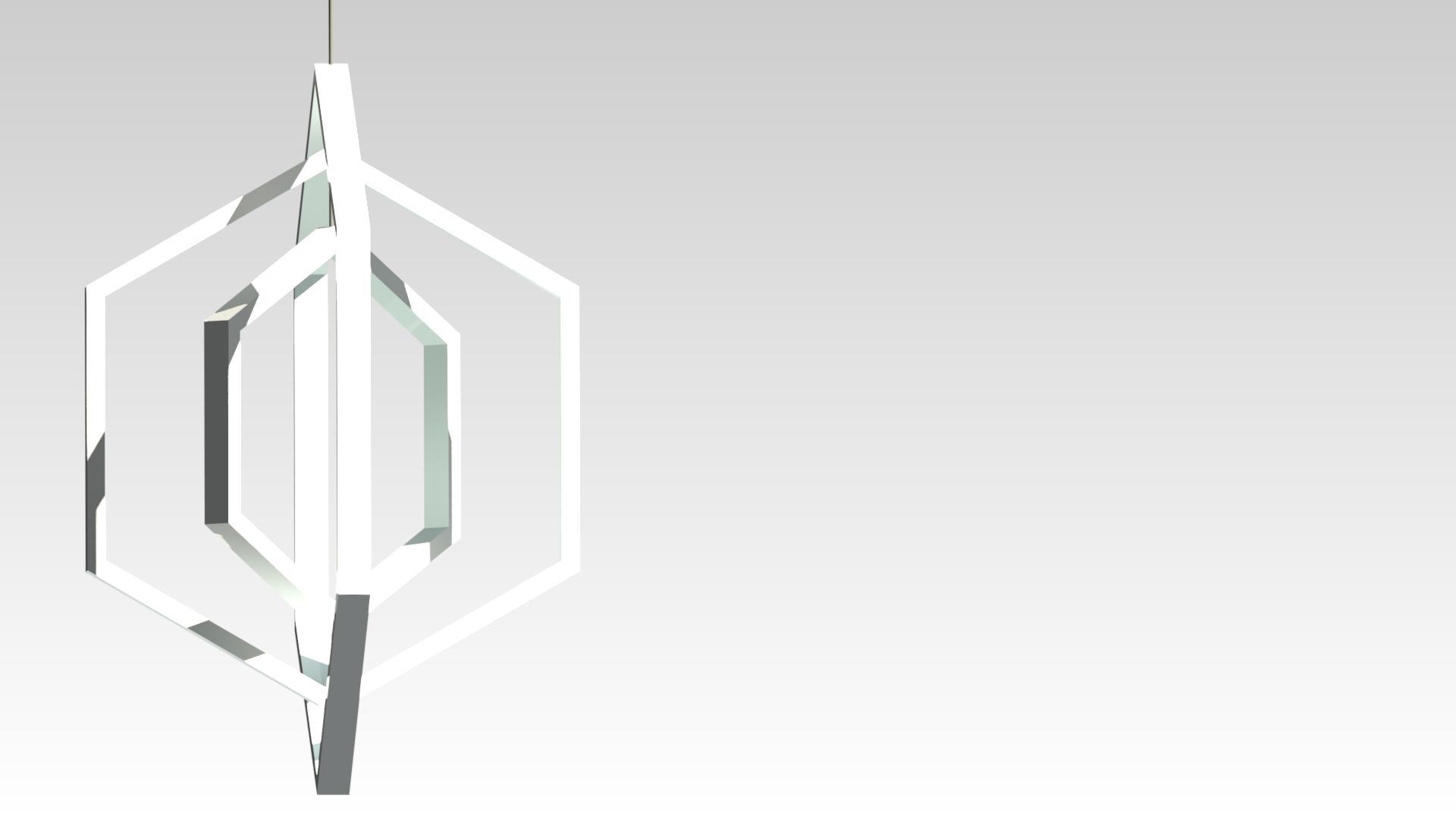 белая подвесная светодиодная люстра