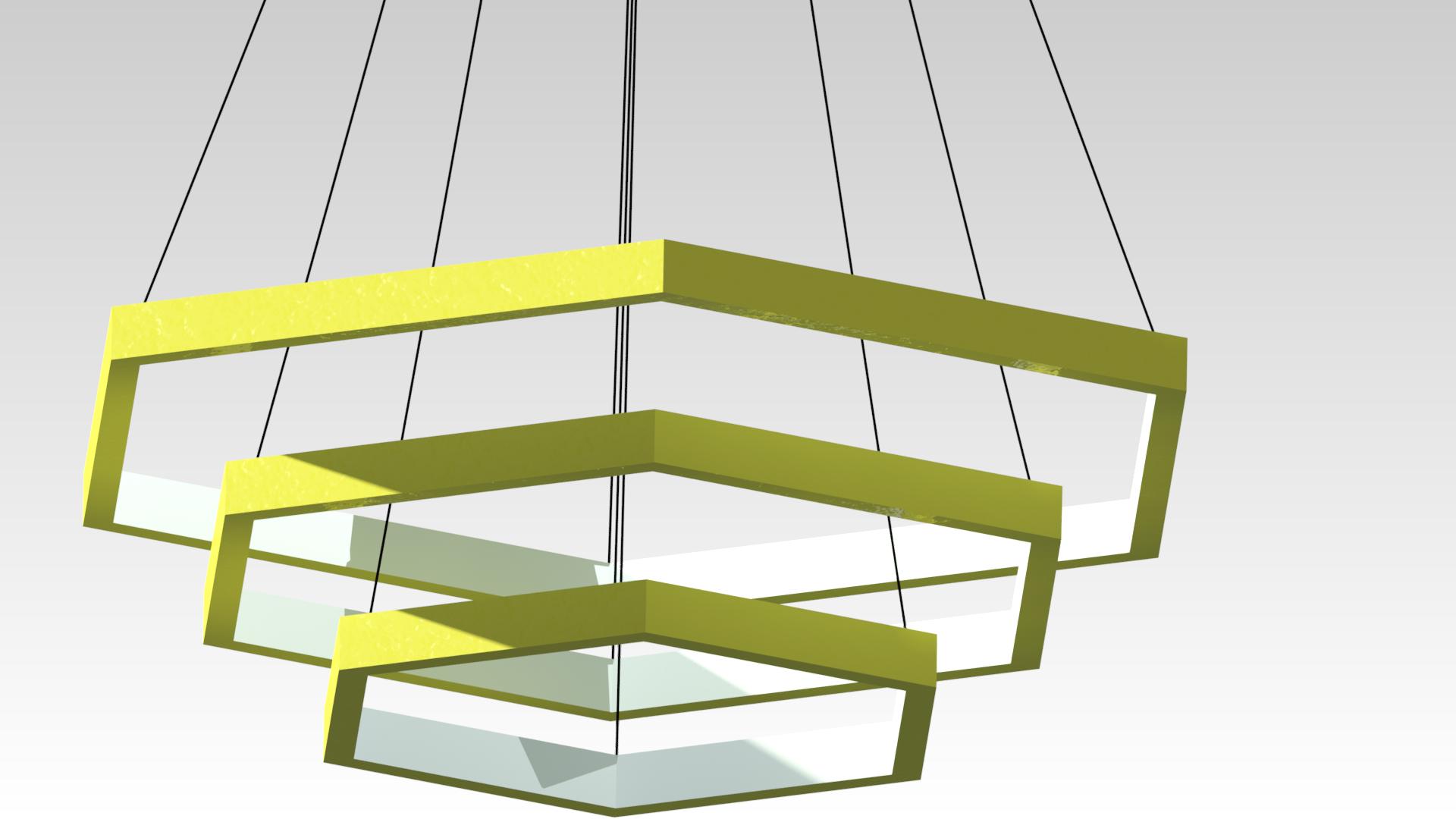 желтая светодиодная люстра на подвесах