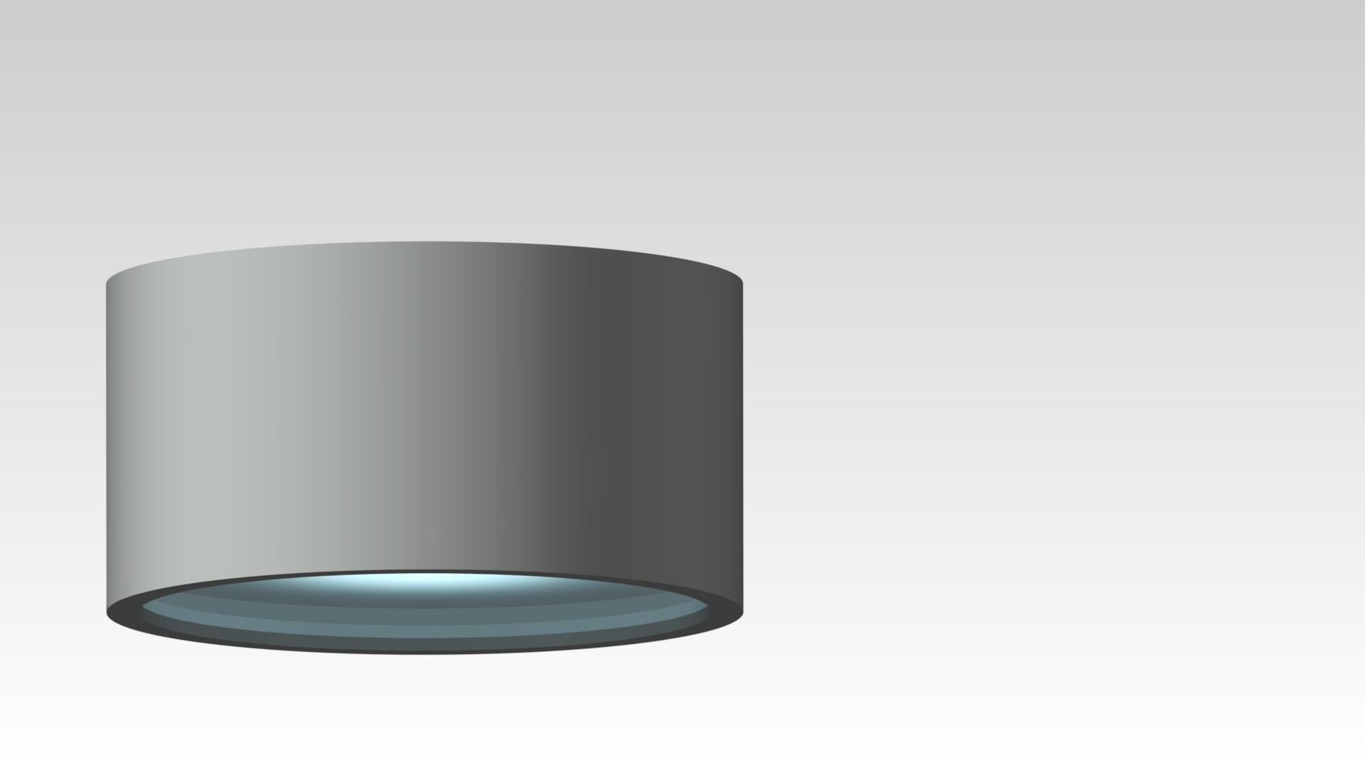 светильник потолочный накладной круглый серый