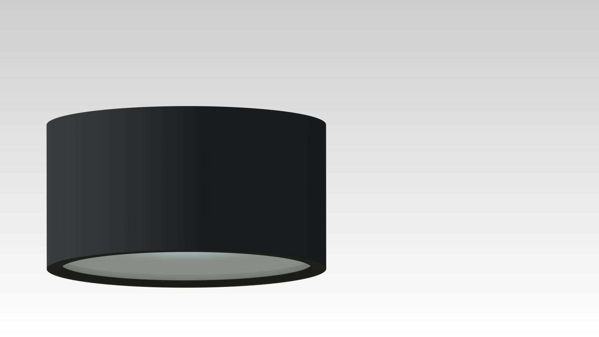 светильник потолочный накладной круглый черный