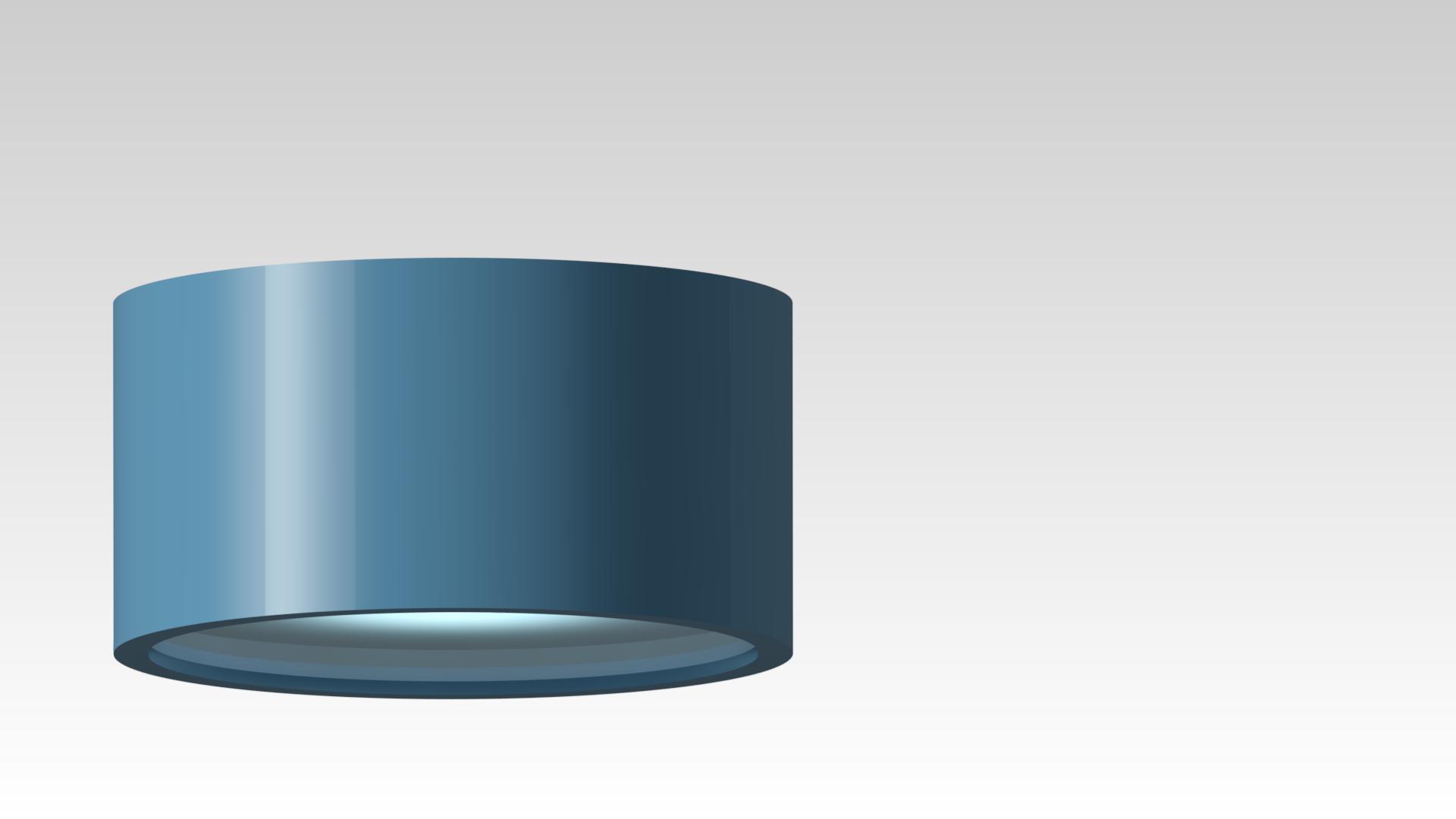 светильник потолочный накладной круглый синий