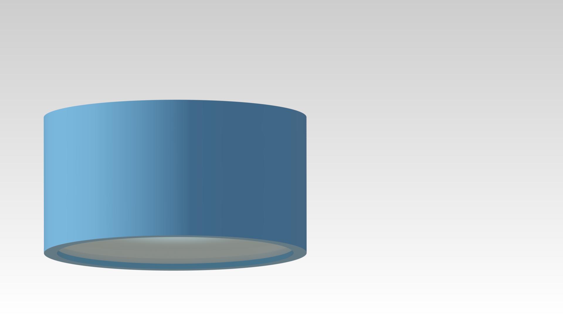 светильник потолочный накладной круглый голубой синий