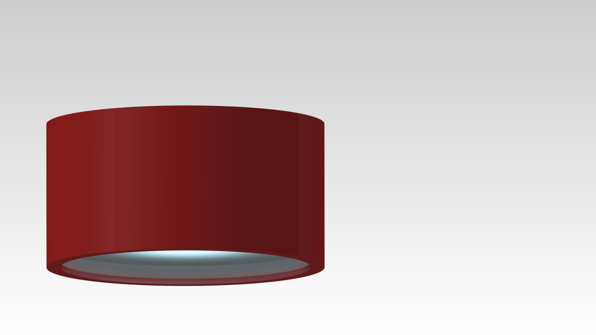 светильник потолочный накладной красный круглый