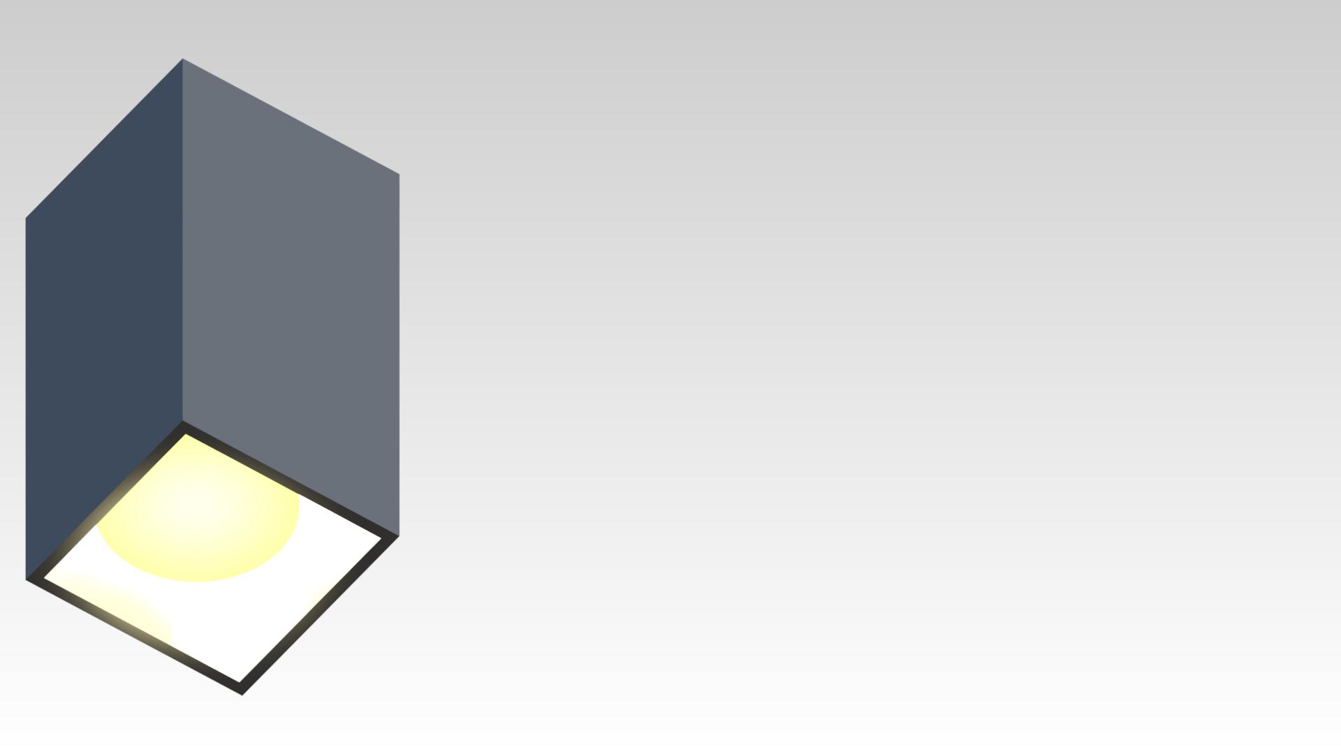 светильник квадратный потолочный накладной серый