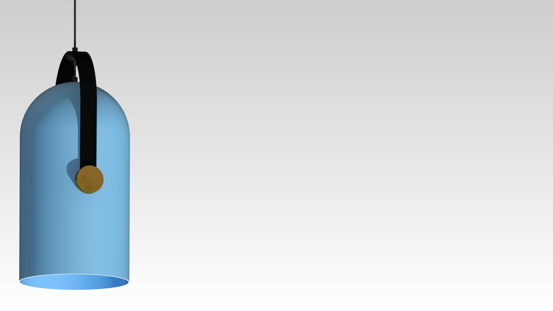 голубой цвет дизайнерский подвесной светильник для ресторана