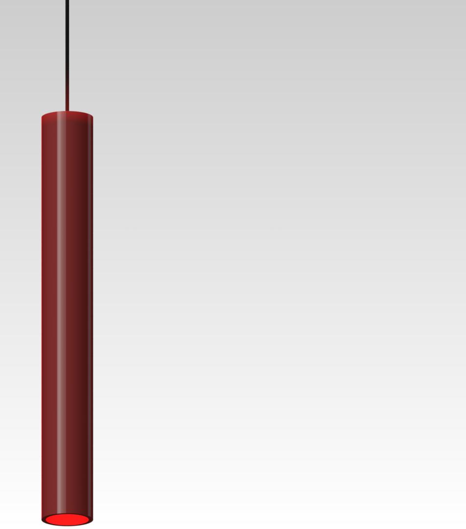 светильник подвесной точечный красный