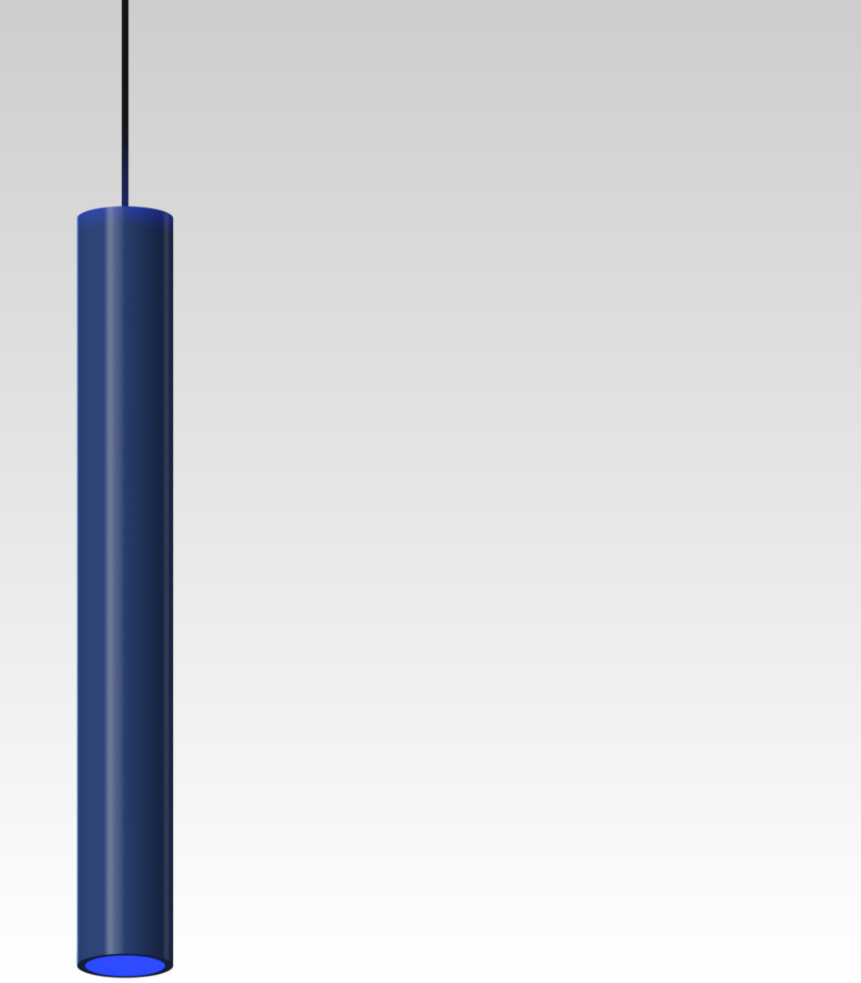 светильник дизайнерский подвесной синий